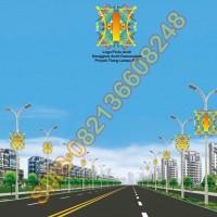 Tiang Lampu PJU Logo NAD