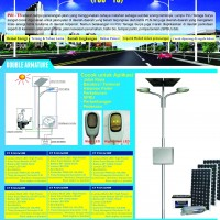 PJU Double Armature High Power LED Type CT PJU 2x50W, LPJU Solar Cell