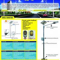Distributor Solar Cell Lampu Jalan Umum (PJU), Gudang Lampu PJU LED Murah, PJU Single Armature High