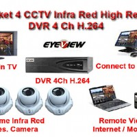 Paket Camera 4 CCTV High Res Effio - E 750 TVL Made in Taiwan dgn Hard Disk 1 TB