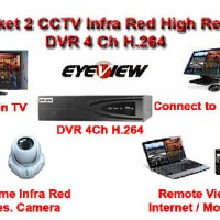 Paket Camera 2 CCTV High Res CCD Sony Effio-E 800 TVL hard Disk 1 TB