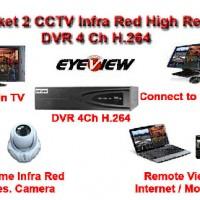 Paket Camera 2 CCTV High Res CCD Sony Effio-E 800 TVL hard Disk 1 TB