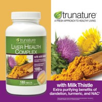 Trunature Liver Health Complex 1000 mg with Milk Thistle, 180 Tablets.