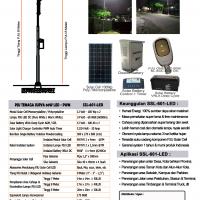 Paket PJU Tenaga Surya 60 Watt PWM
