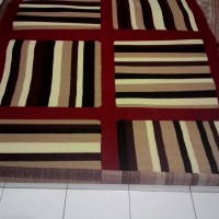 Karpet Abstrak LINE- RED uk. 170*230 cm