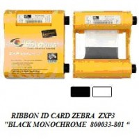 ribbon printer id card zebra zpx3 black 800033-801