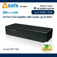 8-Port VGA Splitter/Extender with Audio 60m- ACAFA VP118A
