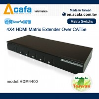 ACAFA HDM4400 HDMI Matrix Switch +Multiple Mixing signals Extender