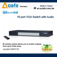 Jual VAS116 16-Port VGA Switch with Audio & Remote