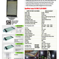 Lampu PJU Multi LED 98 Watt