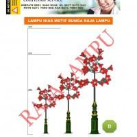Lampu Taman Bunga Tulip Merah D