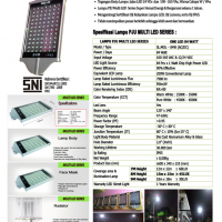 Lampu PJU Multi LED 84 Watt
