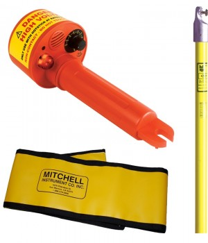 MITCHELL Non Contact AC High Voltage Detector MITHD311 with 4 Ft Hot Stick and Bag