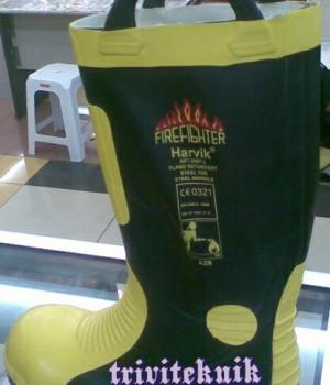 sepatu boot pemadam kebakaran Harvik,safety fire ranger shoes,