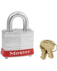 Master Lock Laminated Steel Padlock 3 Red