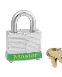 Master Lock Laminated Steel Padlock 3 Green