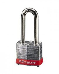 Master Lock Laminated Steel Padlock 3LF Red