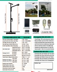 Paket PJU Tenaga Surya 40 Watt LED