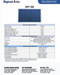 Solar Cell 120 Wp Polycrystalline - Skytech Solar Indonesia