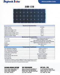 Solar Panel 150Wp Monocrystalline