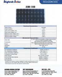 Solar Panel 100Wp Monocrystalline