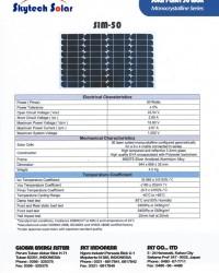 Solar Panel 50Wp Monocrystalline