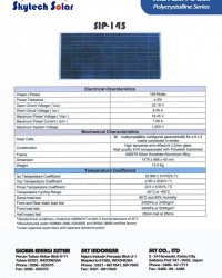 Solar Panel 145Wp Polycrystalline
