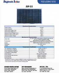 Solar Panel 35 Wp Polycrystalline