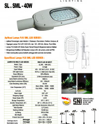 LAMPU PJU LED 40 WATT (MULTI LED)