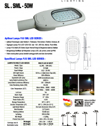 Lampu Jalan Multi LED 50 Watt