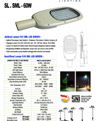Lampu Jalan Multi LED 60 Watt