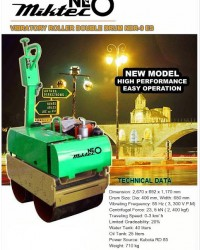 BABY ROLLER / Walk behind Double Drum Vibration Roller / PEMADAT TANAH