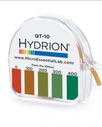 Hydrion (QT-10)Quat Test Paper 0-400 PPM  Catalog#: QT-10