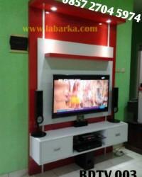Backdrop TV / buffet TV Minimalis Semarang