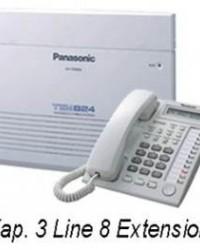 PABX Panasonic KX-TES824ND (Kapasitas 3