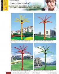 Lampu Hias Pohon Kelapa FRP Composite