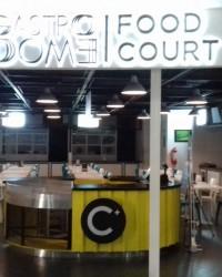 """Jasa Signage Galvanil LED Backlite """"Food Court"""" dan Service Signage Letter D pada Signage"""