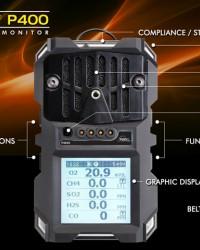GAS DETECTOR P400 || PORTABLE MULTIGAS DETECTOR P400 SENSIT, MULTI GAS DETEKTOR, GAS DETEKTOR