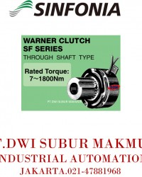 SINFONIA TECHNOLOGY WARNER CLUTCH SF SERIES