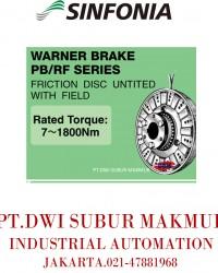 SINFONIA TECHNOLOGY  WARNER BRAKE PB/RF SERIES