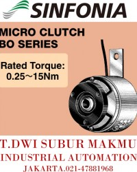 SINFONIA TECHNOLOGY MICRO CLUTCH BO SERIES