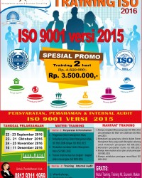 PUBLIC TRAINING ISO 9001 VERSI 2015