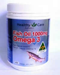 HEALTHY CARE FISH OIL OMEGA 3 1000MG - 400 CAPSULES (MADE IN AUSTRALIA)