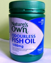NATURE'S OWN ODOURLESS FISH OIL 1000 MG - 400 CAPSULES - MADE IN AUSTRALIA