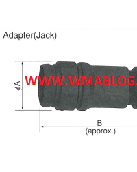 Nananboshi Connector NJW Series Adapter with Flange Type S and Type G