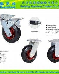 rubber castor wheels