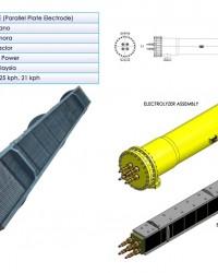 ELECTROLYZER FOR SEAWATER, BRINE AND POOL