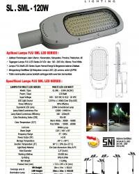 LAMPU PJU Multi LED 120Watt (AC/DC)