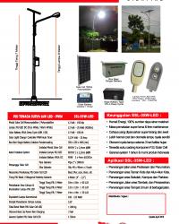 PJU Tenaga Surya 35 Watt LED – PWM