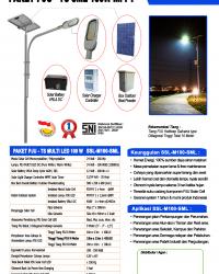 Paket PJU Tenaga Surya 100W LED